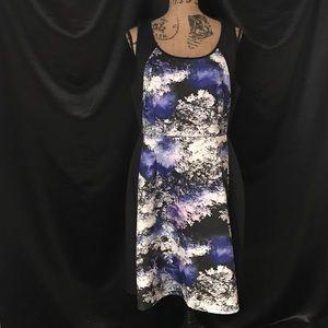 Lane Bryant Dress Tank Sleeve Size 14 Black Blue